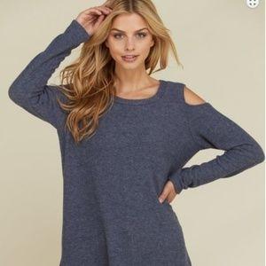Cold Shoulder Long Sleeve Cashmere Sweater